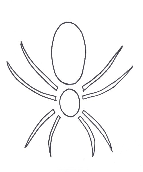 Spiderman pumpkin template.