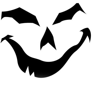 creepy Pumpkin Face Free Pumpkin Carving Template