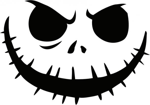 jack_skellington Pumpkin Face Free Pumpkin Carving Template