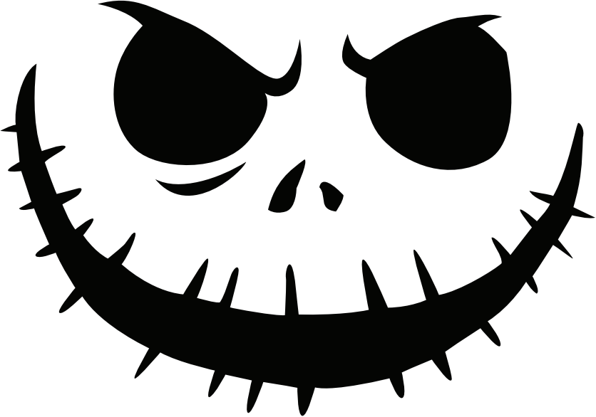 ... Archive » jack_skellington Pumpkin Face Free Pumpkin Carving Template