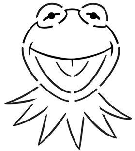 kermit Pumpkin Face Free Pumpkin Carving Template
