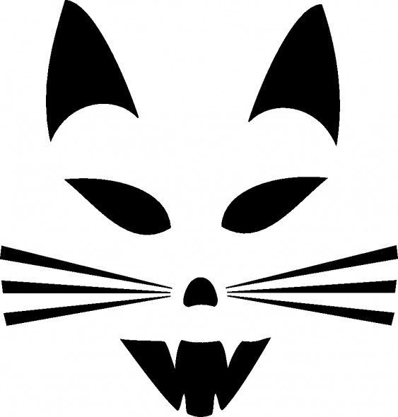 kitty Pumpkin Face Free Pumpkin Carving Template
