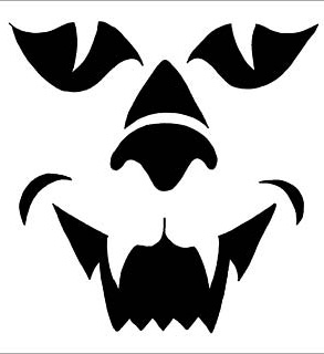 Creepy Cat Pumpkin Face Free Pumpkin Carving Template